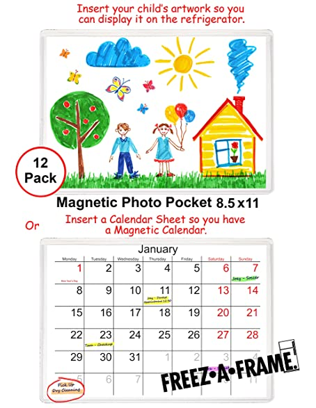 Amazon.com: 12 Pack 8.5 X 11 Magnetic Picture Frame Use for 8 X 10 ...