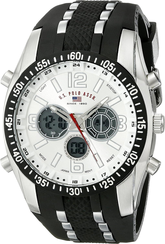 U.S. Polo Assn. Sport Men's US9061 Watch with Black Rubber Strap Watch