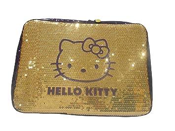 Hello Kitty dorado y morado con lentejuelas covered acolchada Netbook/funda para portátil: Amazon.es: Electrónica