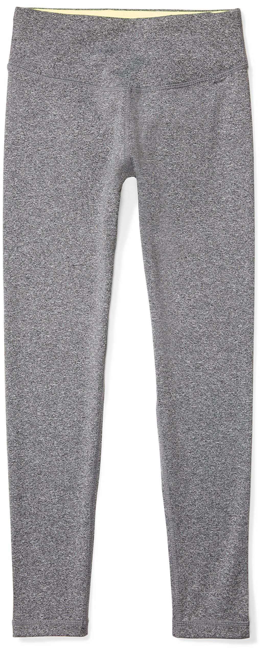 Starter Girls' 23'' Performance Workout Legging, Prime Exclusive, Carbon Grey Jaspe, M (7/8)