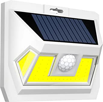 [New 2020] Solar Motion Sensor Light Outdoor-2 Generation Security Light-Upgraded Motion Detector-Very Bright-54 LEDs-270° Wide Light Angle-Waterproof-Wireless-Easy to Install Led Solar Lights Outdoor
