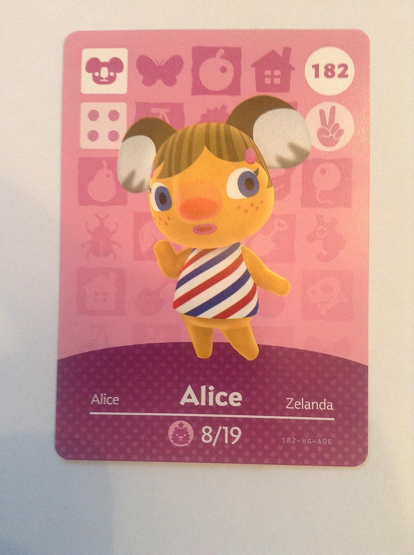 Nintendo Animal Crossing Happy Home Designer Amiibo Card Alice 182/200 USA Version