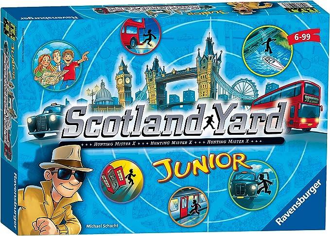 22289 6 Color Azul Ravensburger Personajes f/ántasticos Juego de Mesa Scotland Yard Junior Negro Miscelanea Amarillo