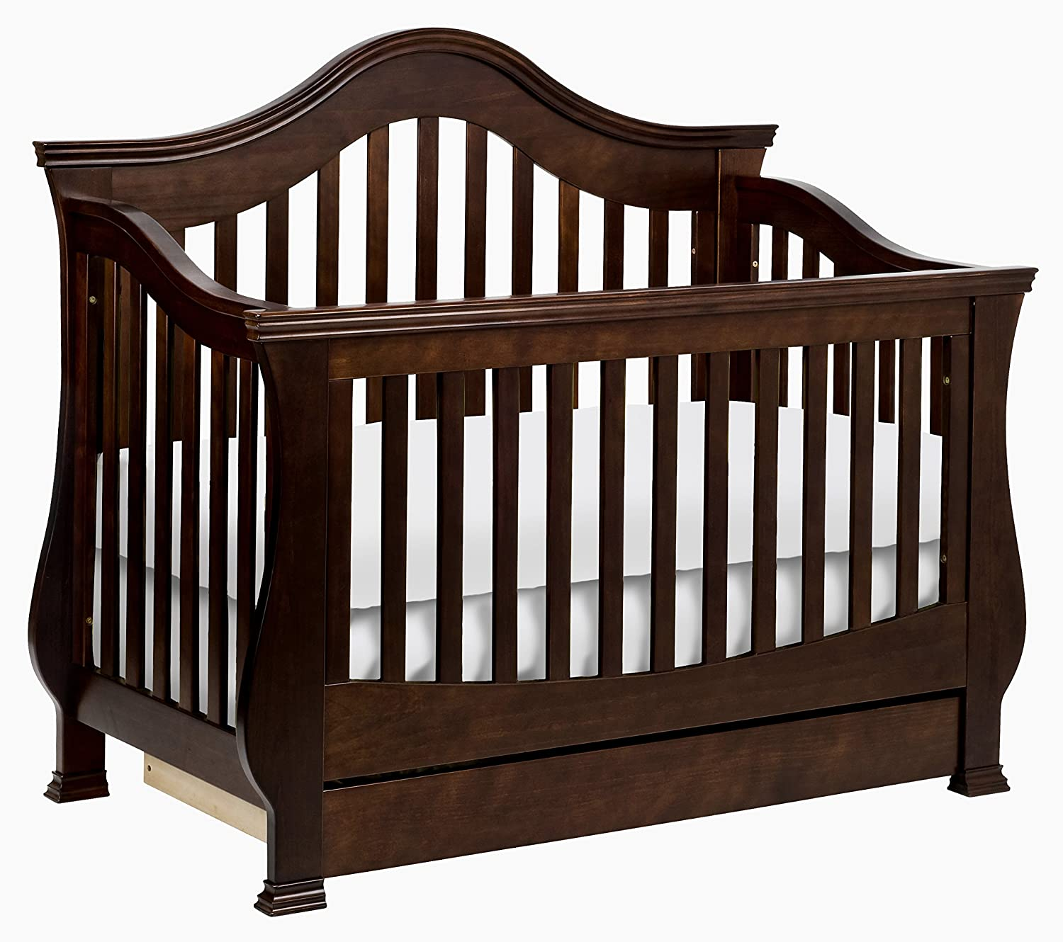 amazoncom million dollar baby classic ashbury 4in1 convertible crib with toddler rail espresso toddler beds baby