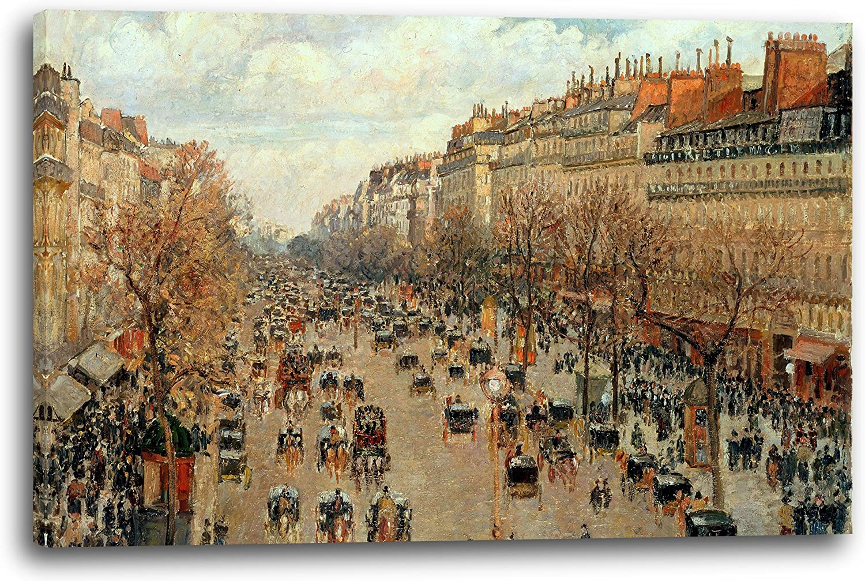 Printed Paintings Impresión Sobre Lienzo (80x60cm): Camille Pissarro - Boulevard Montmartre