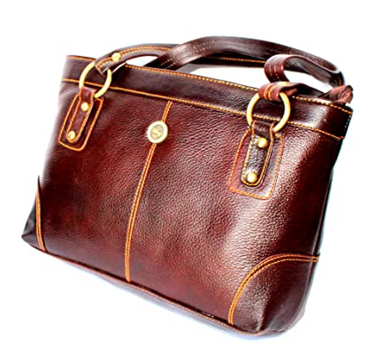 Buy STOCK CLEARANCE SALE- Designer Genuine Pure Leather Women s Shoulder Bag  in Rich Brown Colour Online at Low Prices in India - Amazon.in 14c557782b07d