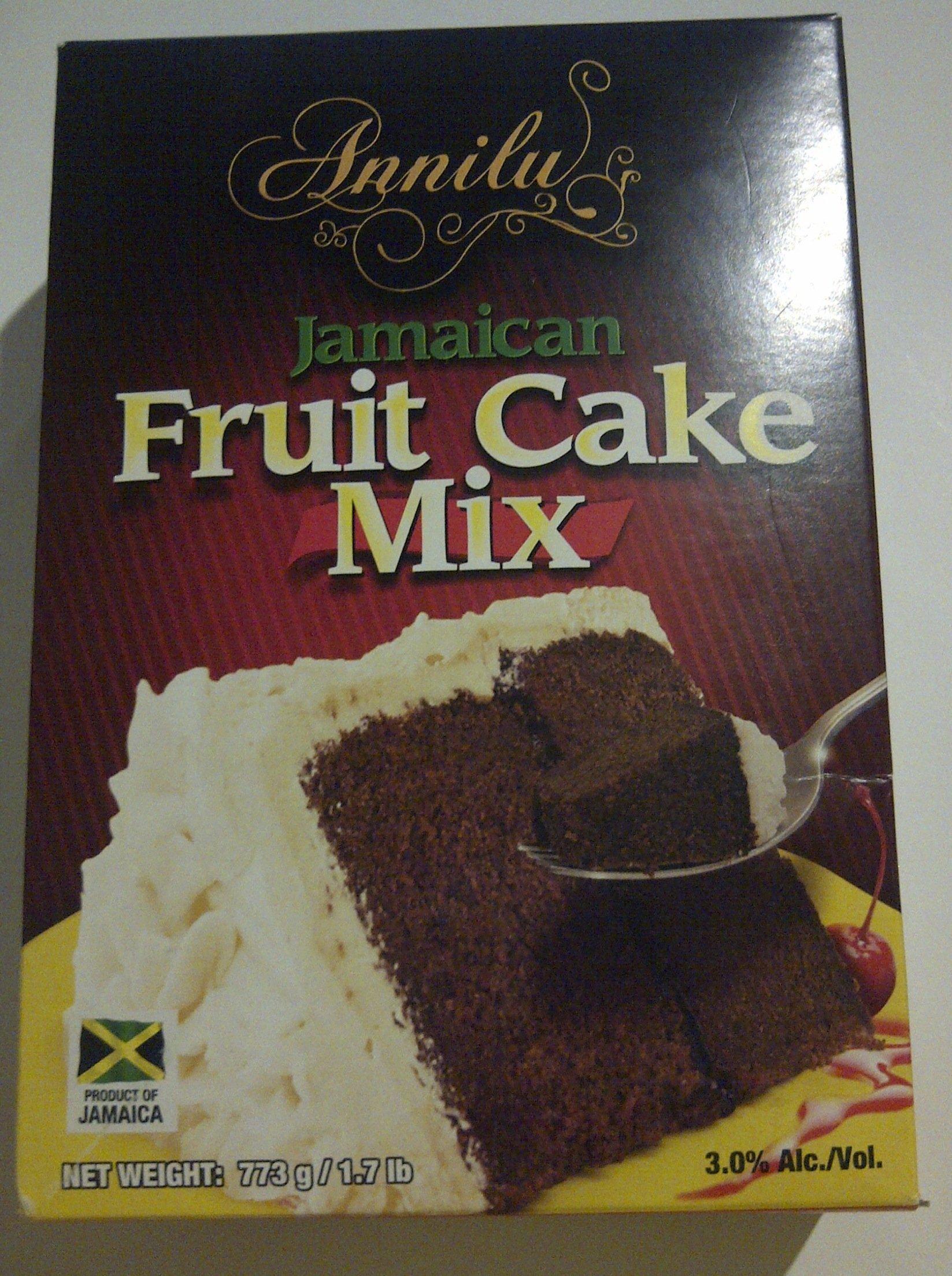 Jamaican Fruit Cake Mix - Annilu 1.7 Lb - Product of Jamaican