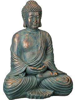 Amazon buddha cast stone garden plaque indooroutdoor regal art gift patina buddha statue 16 workwithnaturefo