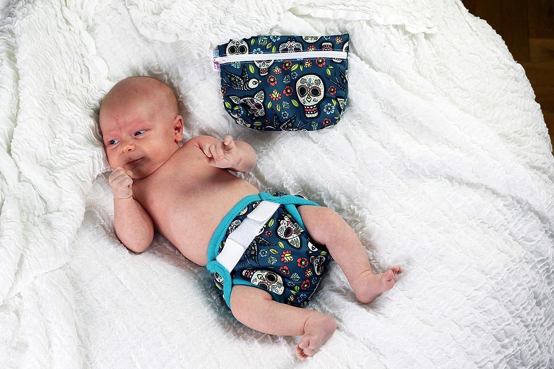 2-6 kg Petit Lulu Neugeborenen /Überhose Geckos f/ür Stoffwindeln Klett