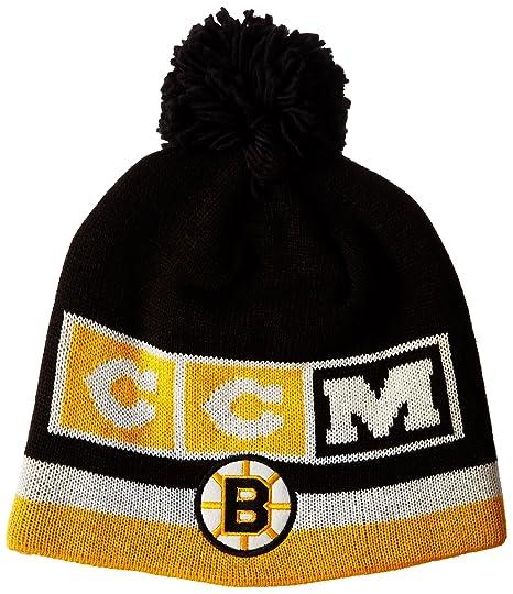 a2bb40ff4b2 Amazon.com   NHL Boston Bruins Men s CCM Pom Knit Hat