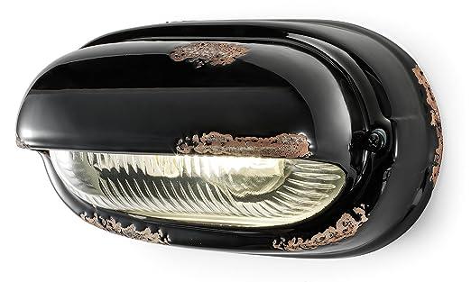 Ferroluce rétro applique avec paupière horizontale noir amazon