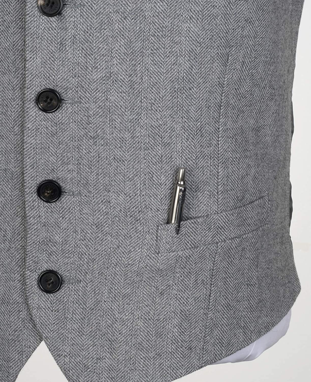 Ruth/&Boaz 2Pockets/4Buttons/Wool/Herringbone//Tweed/Tailored/Collar/Suit/Vest