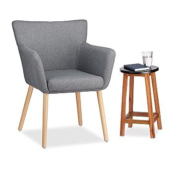 Relaxdays Polstersessel Design Stoffbezug Weich Gepolstert Bequem