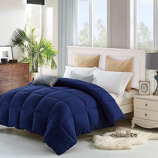 Lavish Comforts Duvet Hypoallergenic Double Brushed Microfiber with Corner Tabs California King Down Alternative Comforter
