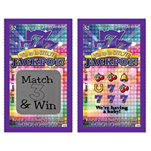 Pregnancy Announcement Scratch-Off Lottery Tickets, New Baby Game, 5 Cards My Scratch Offs