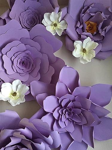 Amazon set of 5 giant 23 inch purple paper flower backdrop set of 5 giant 23 inch purple paper flower backdropwedding backdropgiant purple mightylinksfo