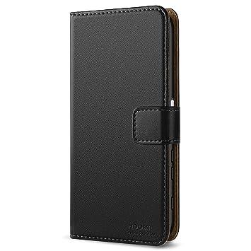 HOOMIL Funda Sony Xperia XZ, Funda Sony Xperia XZs, Cuero Premium Fundas para Sony Xperia XZ/XZs Carcasa Case (H3188, Negro)