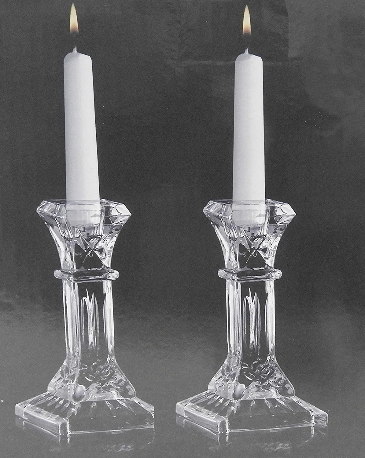 Set of 2 Fitz and Floyd Compton Classic Glass Candle Holders