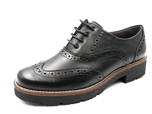2cf8213b9877 Zapato Mujer cómodo Tipo Ingles con Cordones PITILLOS, en Piel Color ...