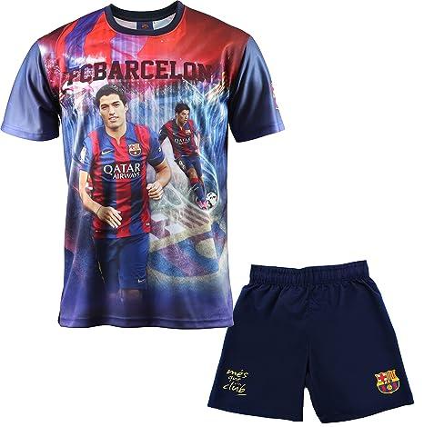Conjunto Camiseta + Short Luis Suarez FC Barcelona – – Colección Oficial FC  Barcelona – Talla 259f41b0cfbd3