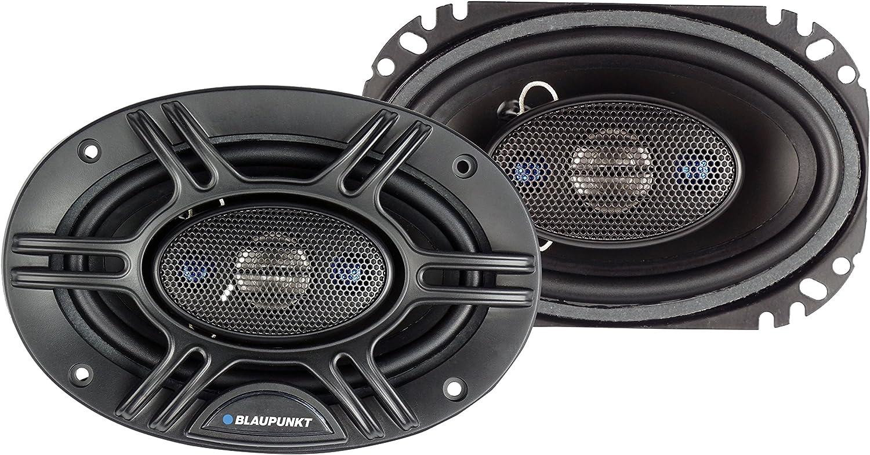 Set of 2 GTX406 Blaupunkt 4 x 6-Inch 240W 4-Way Coaxial Car Audio Speaker