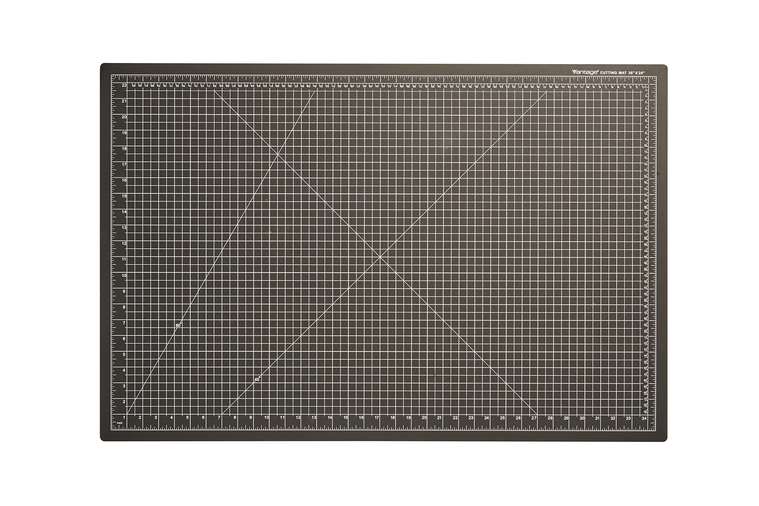 """Dahle Vantage 10673 Self-Healing Cutting Mat, 24""""x36"""", 1/2"""" Grid, 5 Layers for Max Healing, Perfect for Cropping, Sewing, & Crafts, Black"""