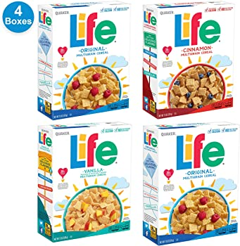 4-Pack Quaker Life Breakfast Cereal Variety Pack (52 Ounce)