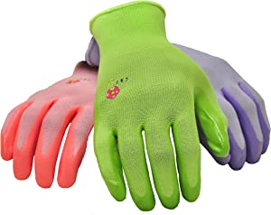 12 PAIRS Women Gardening Gloves with Micro Foam Coating - Garden Gloves Texture Grip - Women's Work Glove - Working Gloves For Weeding, Digging, Raking and Pruning, Medium