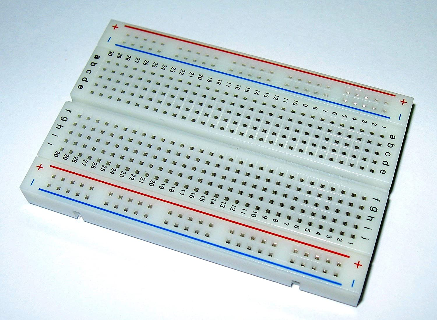 Bb400 Solderless Plug In Breadboard 400 Tie Points 4 Small Projects Electronic Circuit Power Rails 33 X 22 03in 84 55 9mm Toys Games