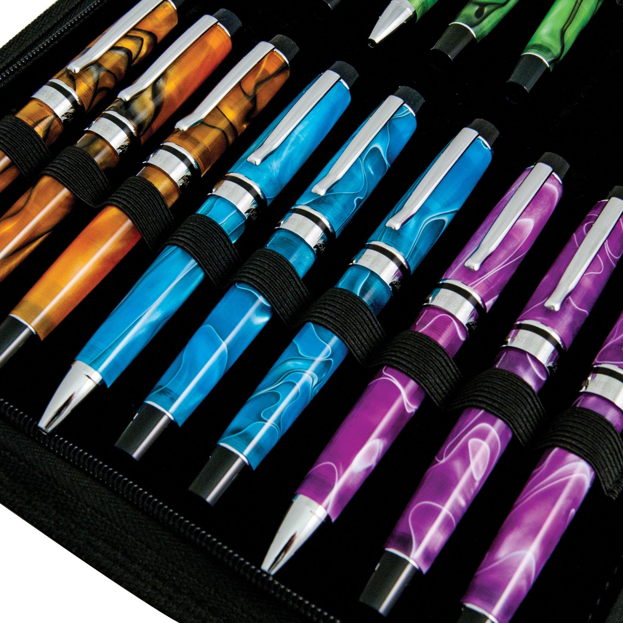 MONTEVERDE Monteverde 36 PC Zipper Pen Case; Black (1407) by Monteverde (Image #4)