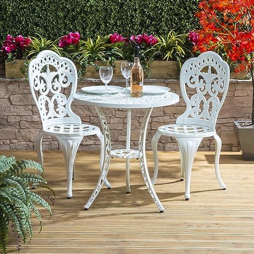 Tavoli In Ghisa Da Giardino.Set Di Tavolo E Sedie Bianco Articoli Tradizionali In Ghisa Di