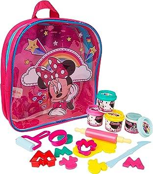Sambro Disney Minnie Mouse Dough Filled Backpack, Creative Fun for Kids, Multicolour
