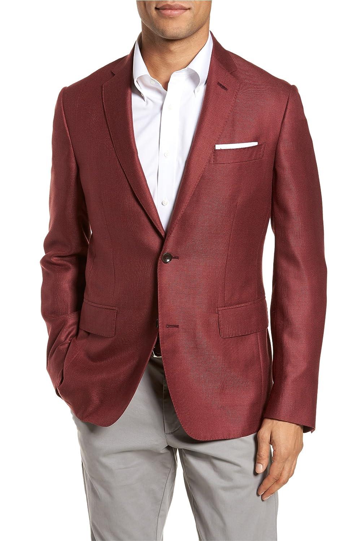 [モンテロッソ] メンズ ジャケットブルゾン Monte Rosso Trim Fit Cashmere & Silk Bla [並行輸入品] B07BF3RHCT 42 Regular