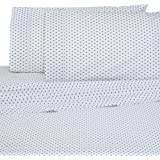 Under the Canopy Under The Fiori Brushed Organic Cotton Sheet Set Queen Infinity Blue