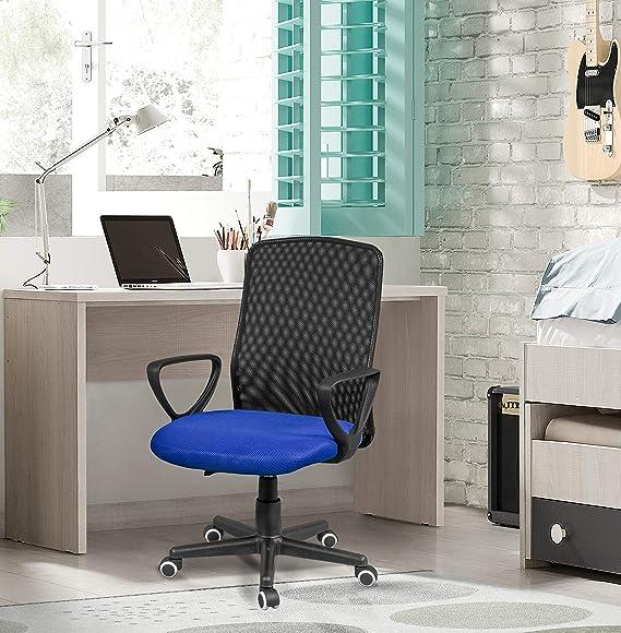 Coco Silla para Escritorio o Estudio Medidas: 58x88,5x55cm duehome Silla de Oficina Azul