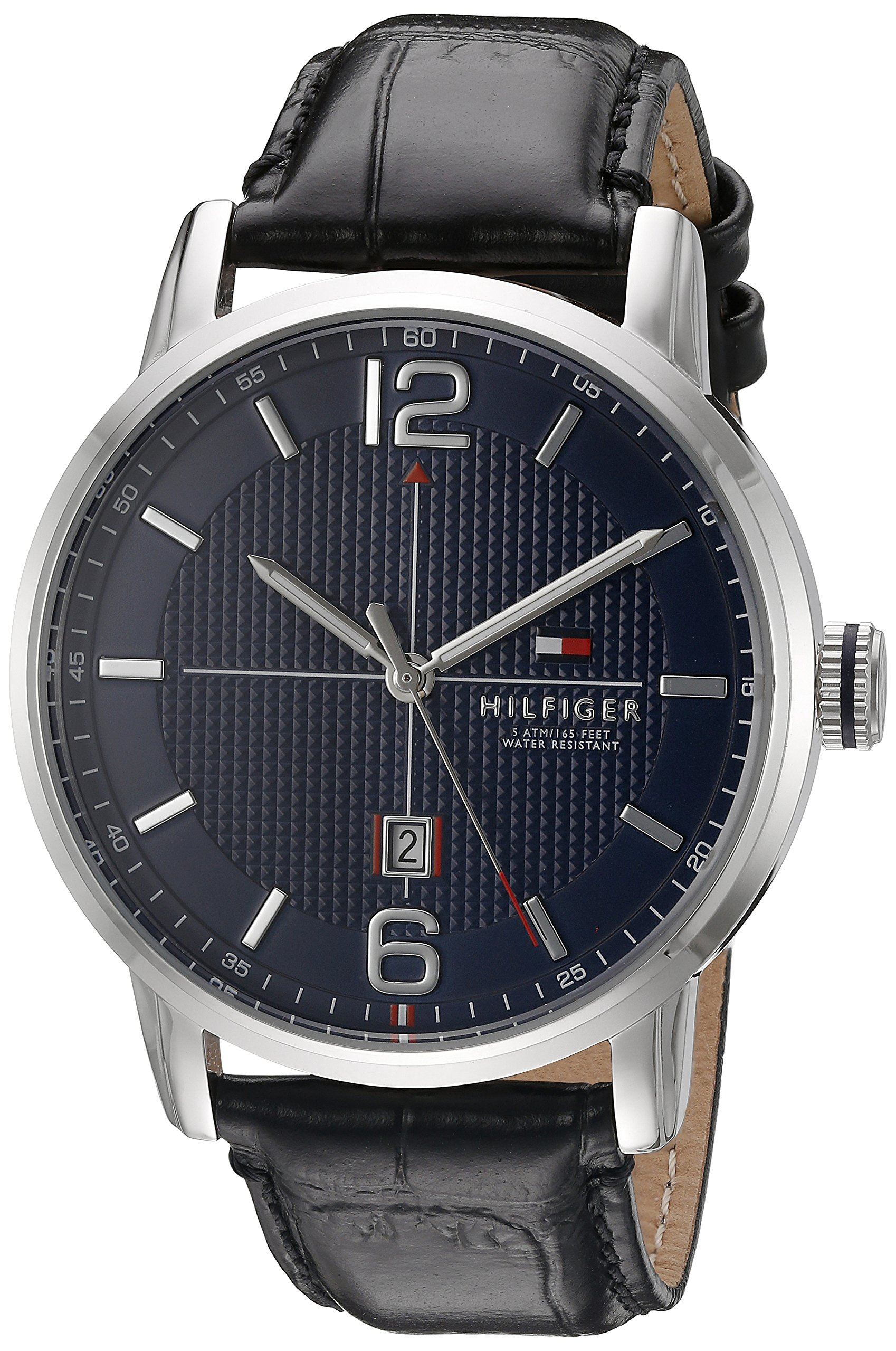 Tommy Hilfiger Men's 1791216 George Analog Display Japanese Quartz Black Watch