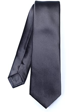 a20162eb29cab VIRTUOSE - Cravate Slim Noir - Couleur Noir - Taille Unique: Amazon ...