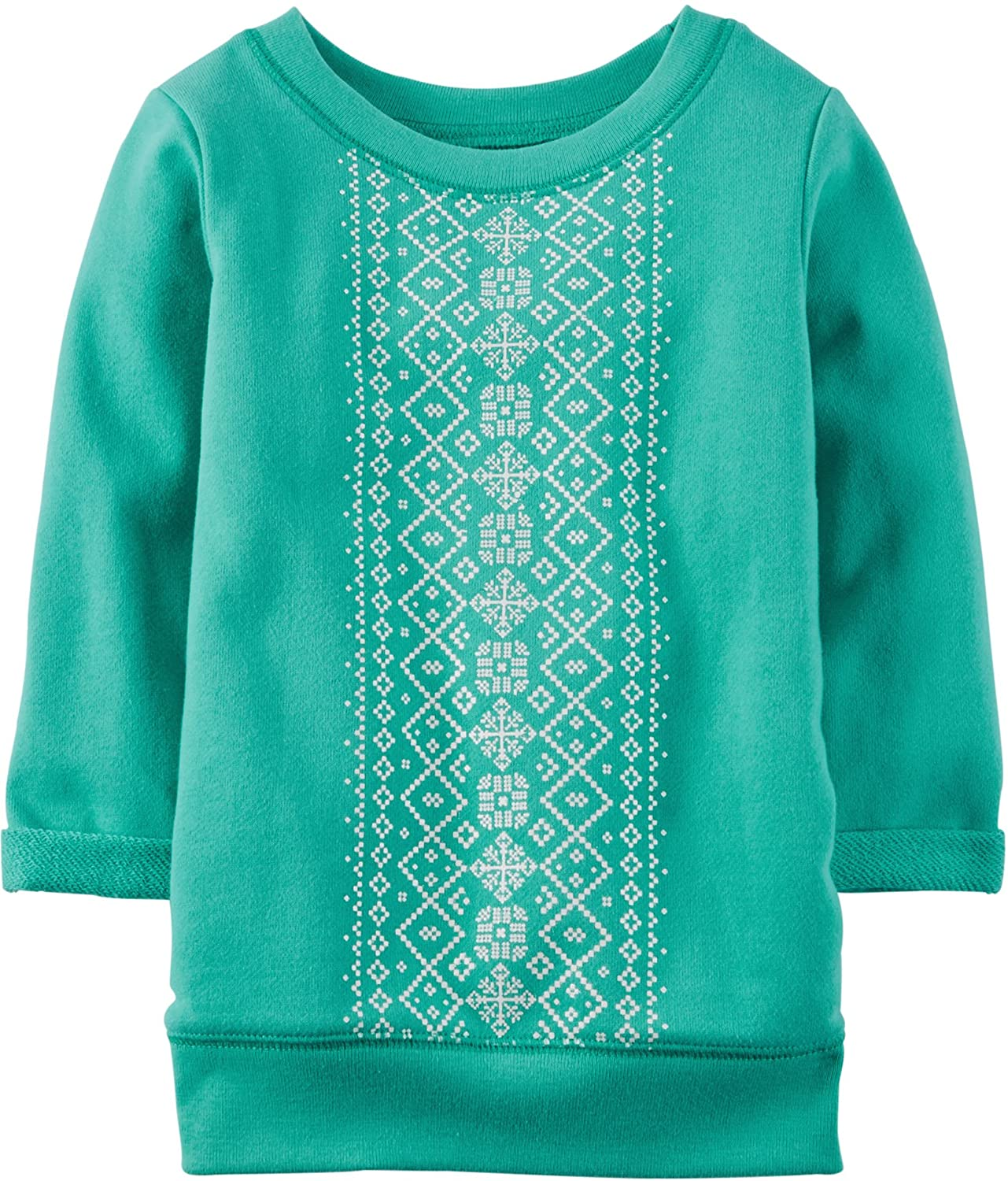 Carters Toddler Girls Geo Snowflake French Terry Tunic Top