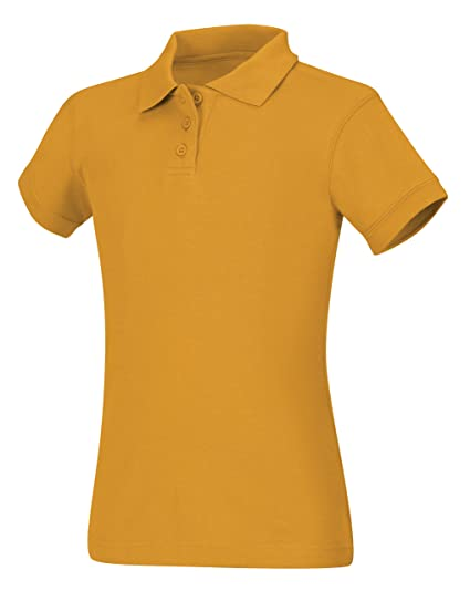 d0e85b1c Image Unavailable. Image not available for. Color: CLASSROOM Big Girls' Interlock  Cap Sleeve Polo ...