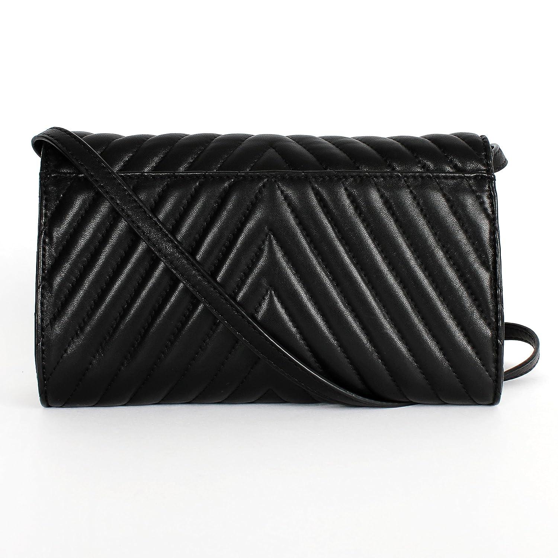 b5ace333ab8c Michael Kors Susannah Quilted Leather Lock Clutch Shoulder Bag Black   Handbags  Amazon.com