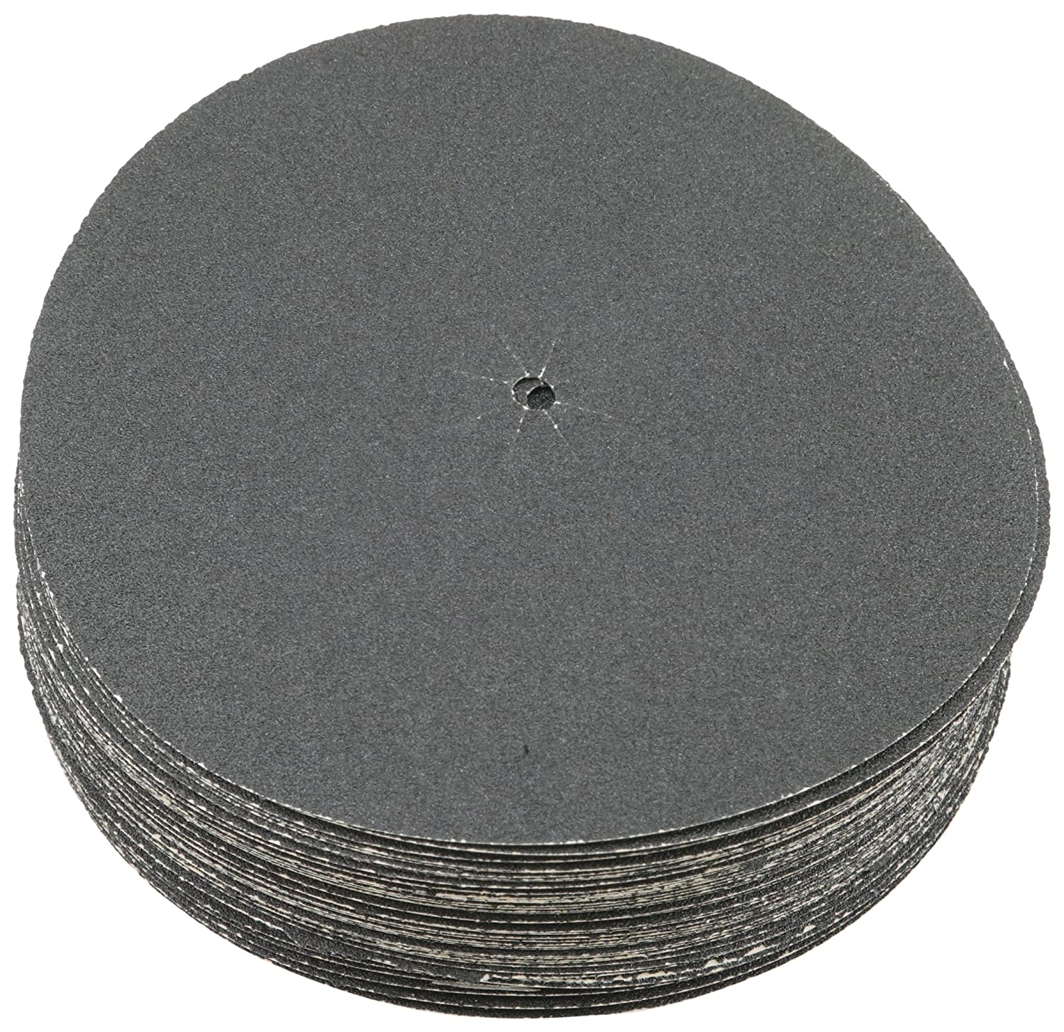 Sungold Abrasives 87402 Plain Backed Edger Discs for Floor Sanders 36 Grit Heavyweight Silicon Carbide Paper with 7' x 5/16' Center Hole & Slits (50 Pack)