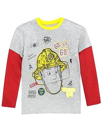 b237bf4874240 Feuerwehrmann Sam Jungen Langarmshirt  Amazon.de  Bekleidung