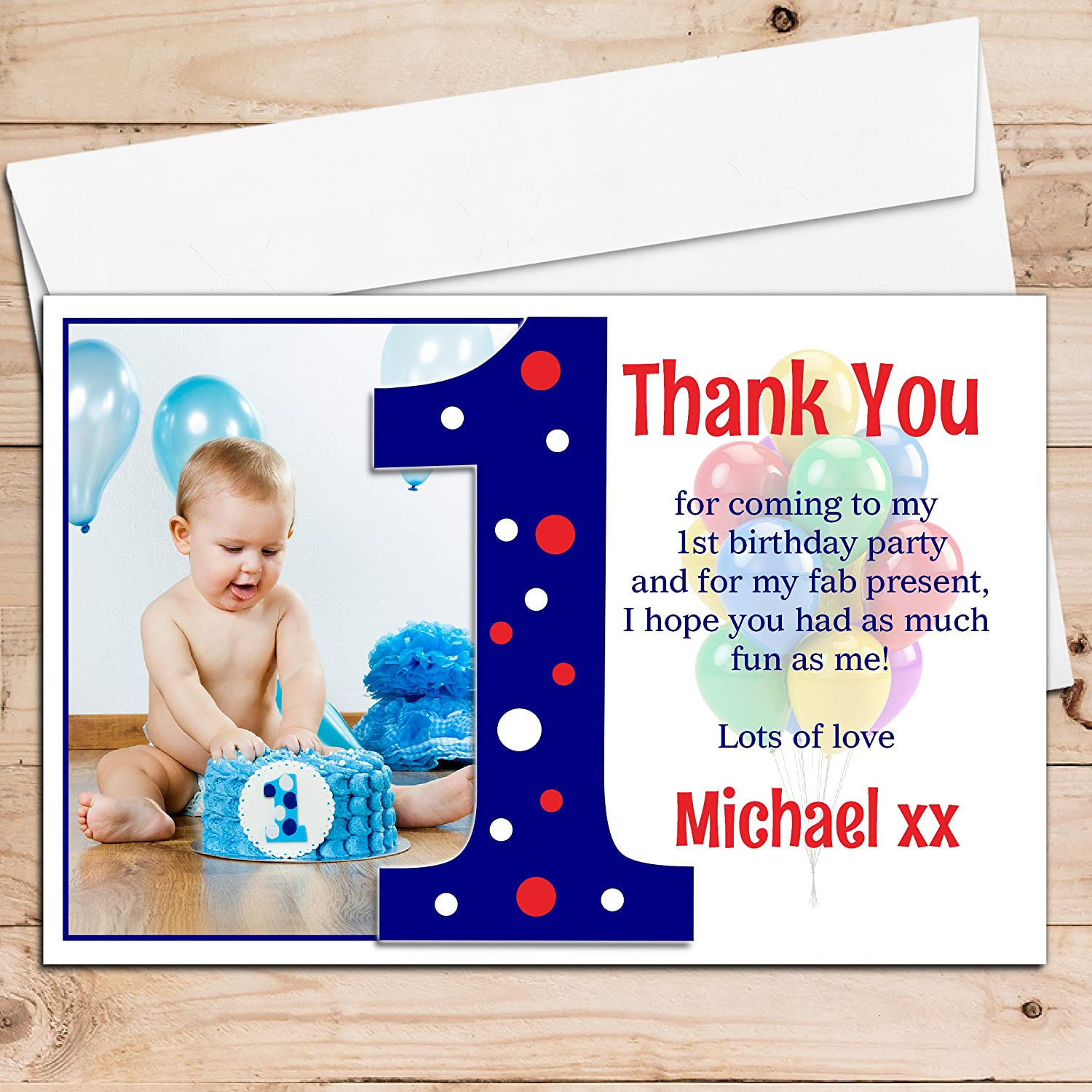 1st Birthday Thank You Card direction cards for wedding – 1st Birthday Thank You Cards