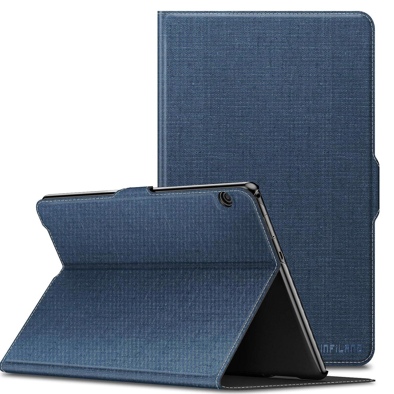 Infiland Huawei MediaPad T5 10 Funda Case Super Delgada Soporte Frontal Cover para Huawei MediaPad T5 10 10.1 Pulgadas 2018 Tablet PC,Gris