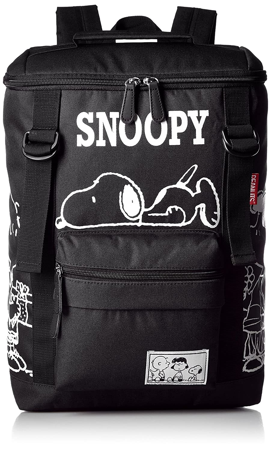31400f062b SNOOPY Double belt Square Rucksack Backpack (Black) 30%OFF - xn ...