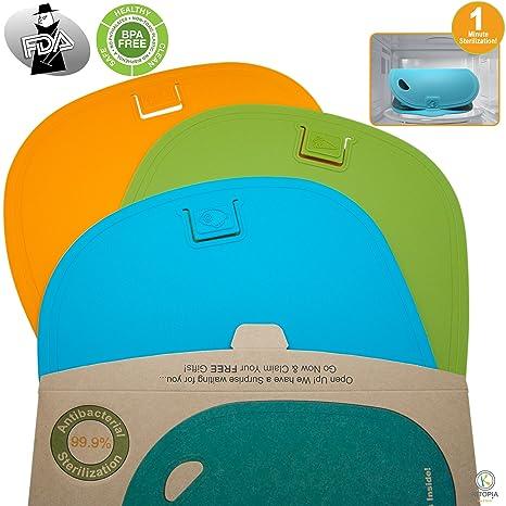 Amazon.com: Plástico Tabla de cortar set. 3 Tablas de cortar ...