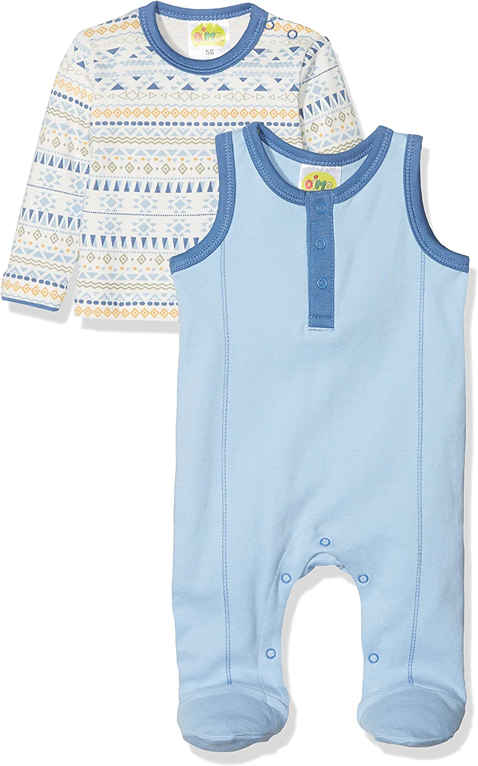 DIMO-TEX Baby-Jungen Strampler Set Indian Summer