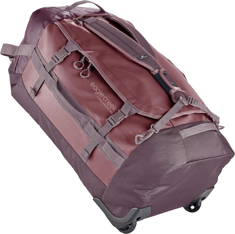 Duffel con ruedas 110L, bolsa de viaje plegable con ruedas, bolsa de lona grande, tela de TPU resistente a la abrasión y al agua, correas de mochila, Earth Red, 110 L