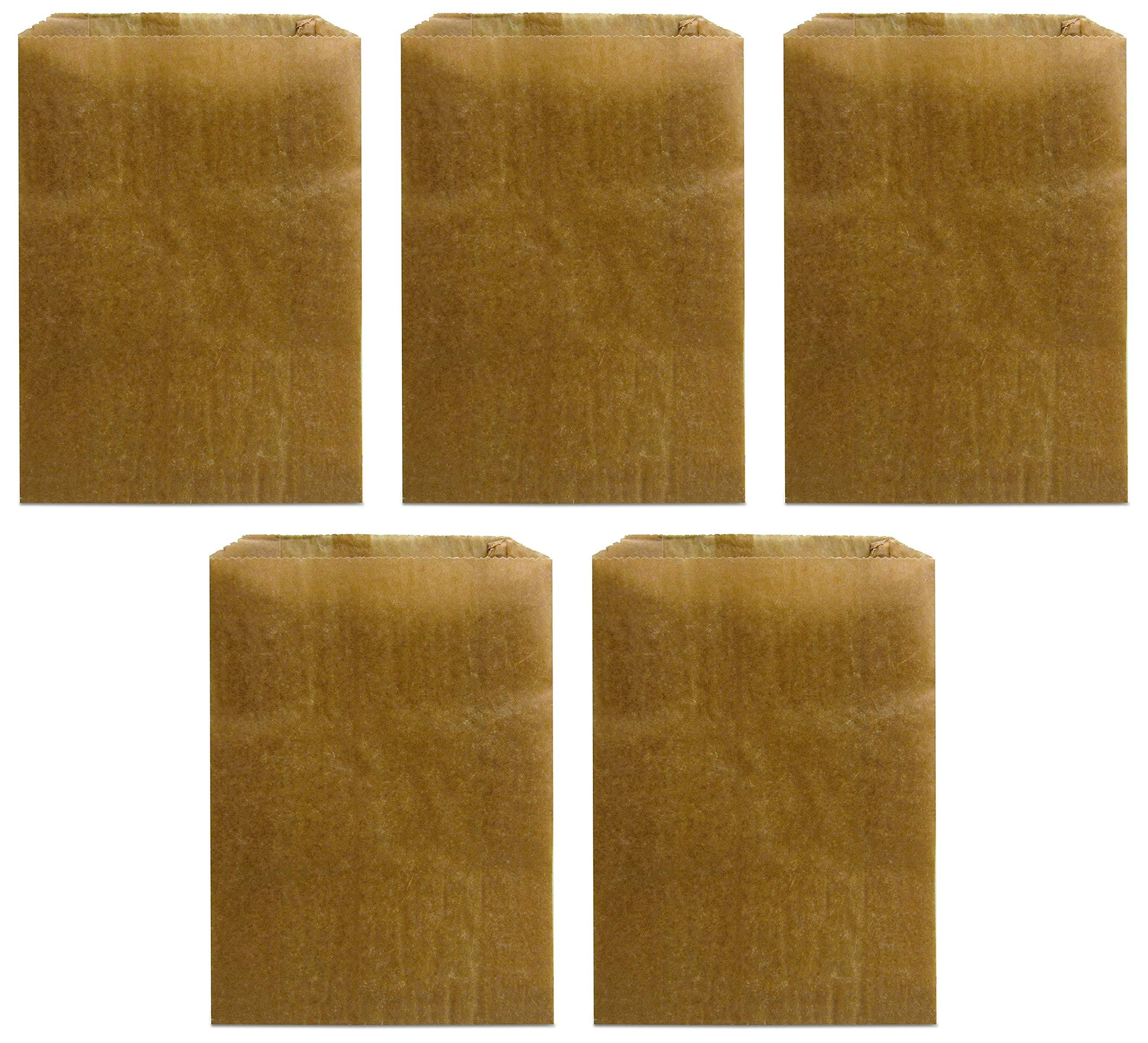 """Hospeco KL Waxed Kraft Feminine Hygiene Liner Bag with Gusset (Case of 500), 10.25"""" x 7.5"""" x 3.5… (Fіvе Расk)"""