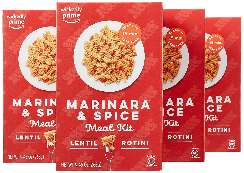 Amazon Com Wickedly Prime Lentil Pasta Meal Marinara Spice